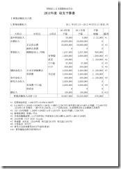 2011予算集支書
