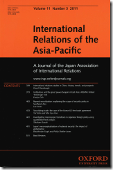 International Relations of the Asia-Pacific Vol 11, No3
