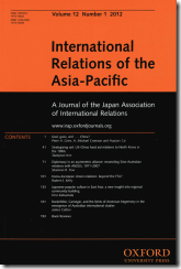 International Relations of the Asia-Pacific Vol 12, No1